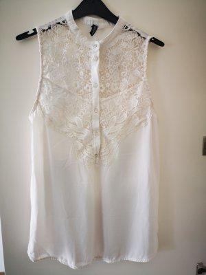 H&M Top di merletto bianco sporco
