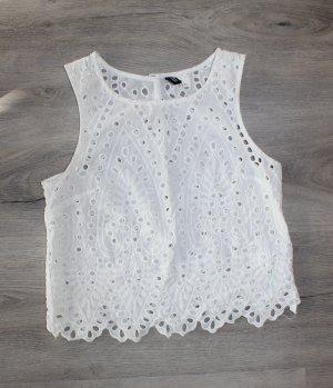 H&M Top di merletto bianco