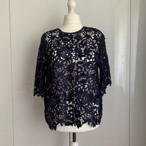 Zara Kanten topje donkerblauw Polyester