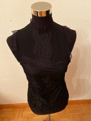 H&M Kanten topje zwart Polyamide