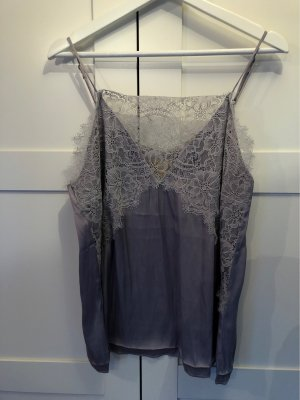 H&M Lace Top silver-colored-light grey