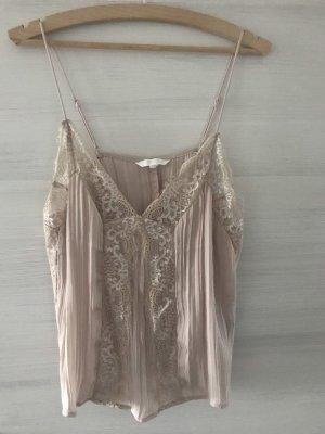 H&M Top di merletto rosa antico