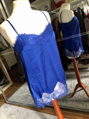 Hallhuber Kanten topje blauw-donkerblauw