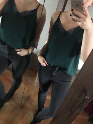 Pimkie Lace Top petrol-dark green