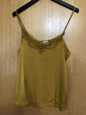Jacqueline De Young Silk Top gold orange