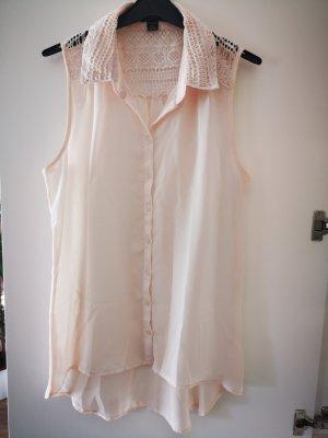 Amisu Top di merletto albicocca-rosa pallido