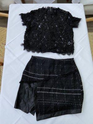 Zara Tweedowa spódnica czarny