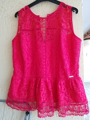 Guess Lace Top red-brick red