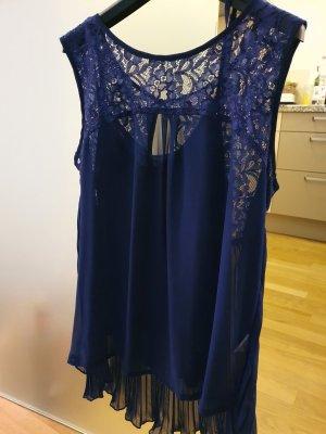TwinSet Simona Barbieri Top di merletto blu