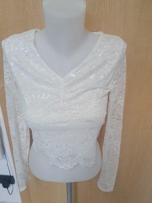 FB Sister Lace Top white polyamide