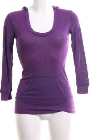 Splendid Top à capuche violet style décontracté