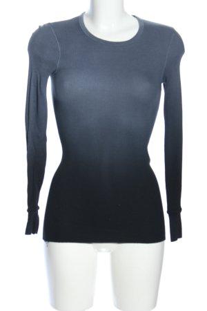 Splendid Longsleeve hellgrau-schwarz Farbverlauf Business-Look