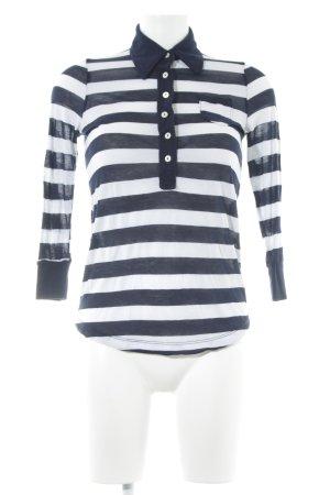 Splendid Longsleeve weiß-dunkelblau Streifenmuster Casual-Look