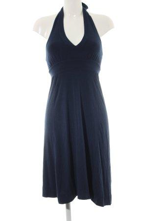 Splendid Vestido de cuello Halter azul look casual