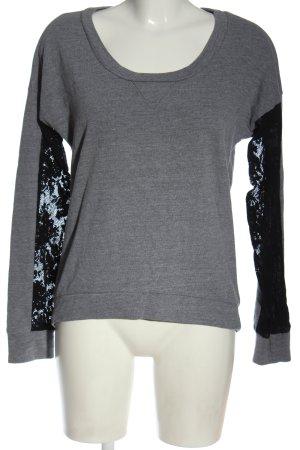Splendid Maglione girocollo grigio chiaro-nero puntinato elegante