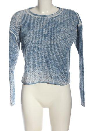 Splendid Maglione girocollo blu-bianco puntinato stile casual
