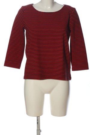 Splendid Maglione girocollo rosso-nero stampa integrale stile casual