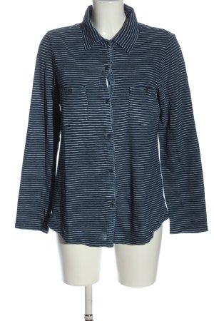 Splendid Giacca-camicia blu-bianco motivo a righe stile casual