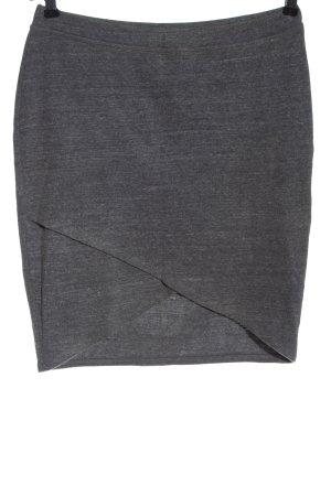 Splendid Falda de punto gris claro moteado look casual