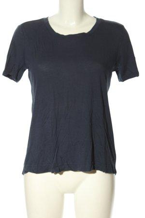 Splendid T-shirt blu-nero punto treccia stile casual