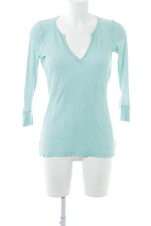 Splendid V-Ausschnitt-Pullover türkis Casual-Look