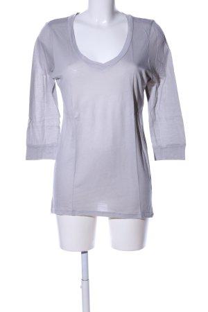 Splendid V-Ausschnitt-Shirt hellgrau Casual-Look