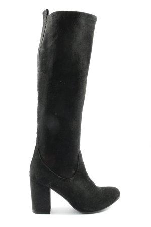 Spm Botas de tacón alto negro look casual