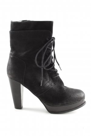 Spm High Heel Stiefel schwarz Business-Look