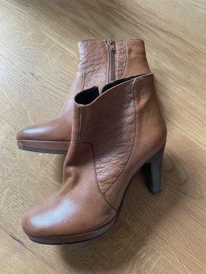 SPM Shoes & Boots Bottes à talon haut brun-noir cuir