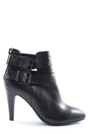 Spm Reißverschluss-Stiefeletten schwarz Business-Look