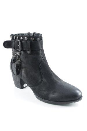 Spm Reißverschluss-Stiefeletten schwarz Street-Fashion-Look