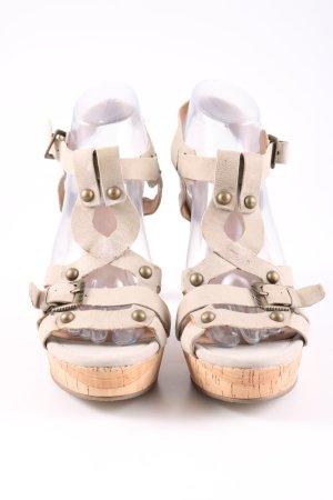 Spm Riemchen-Sandaletten creme Casual-Look