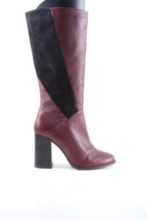 Spm Schaftstiefel pink-schwarz Casual-Look