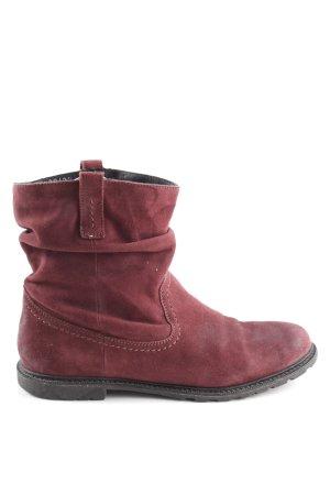 Spm Wciągane buty za kostkę czerwony W stylu casual