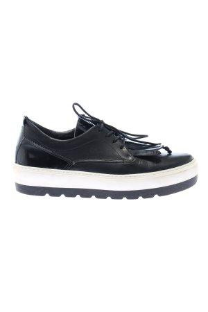 Spm Schnürschuhe schwarz-weiß Casual-Look