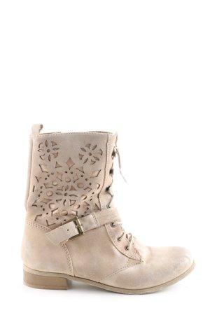 Spm Lace-up Boots cream elegant