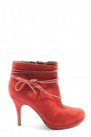 SPM Shoes & Boots Reißverschluss-Stiefeletten rot Casual-Look