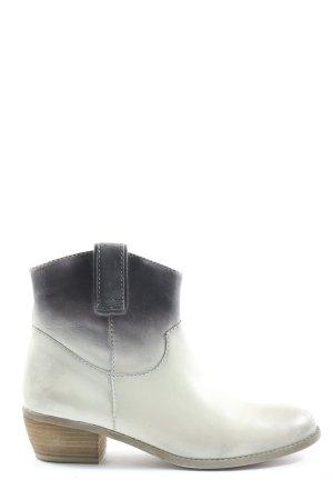 SPM Shoes & Boots Western-Stiefeletten hellgrau-schwarz Casual-Look