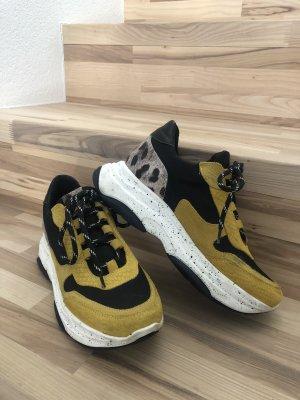 SPM Sneaker Gelb Schwarz Leo Gr. 38