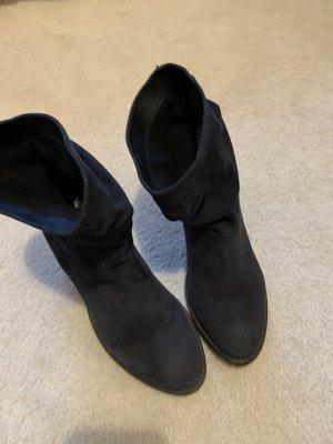 SPM Shoes & Boots Wciągane buty za kostkę antracyt