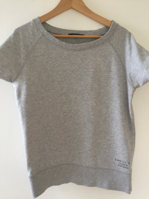 Gant Boatneck Shirt light grey cotton