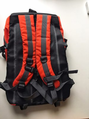 Travel Bag neon orange-black polyester