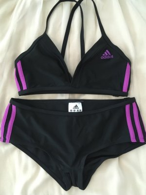 Adidas Traje de baño marrón-negro-violeta