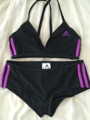 Adidas Maillot de bain brun noir-violet