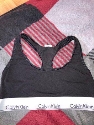 Calvin Klein Biustonosz czarny-biały Modal