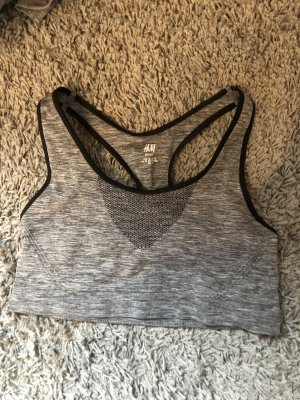 H&M Sport Bra grey-black