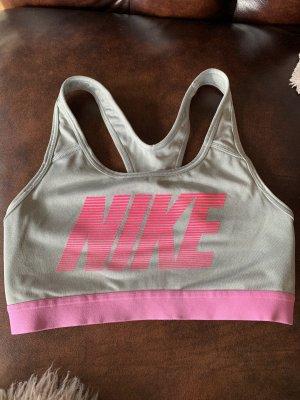 Nike Biustonosz srebrny-różowy