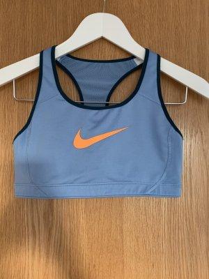 Nike Reggiseno azzurro-arancio neon