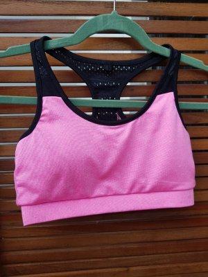 Sport-BH Pink-Schwarz