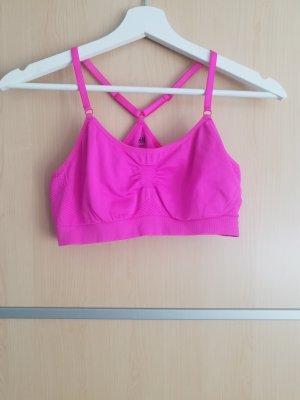 H&M Sport Top sportowy różowy-różowy neonowy